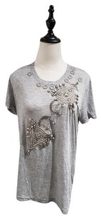 Givenchy Embellished Beaded Crystal T Shirt Gray