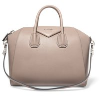 Givenchy Leather Black Satchel in Taupe