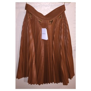 Givenchy Leather Skirt MEDIUM BROWN