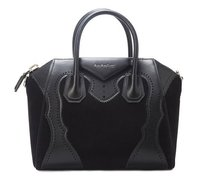 Givenchy Medium Antigona Leather &suede Satchel in Black