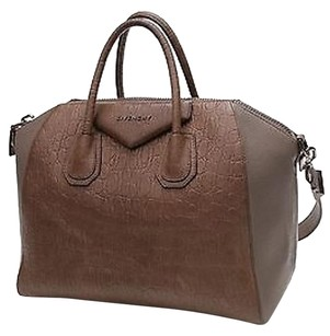 Givenchy Embossed Satchel in Khaki