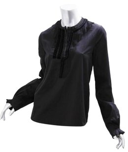 Givenchy Womens Cotton Top Black