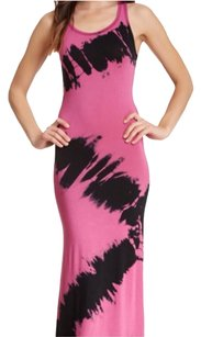 Pink/black Maxi Dress by Go Couture