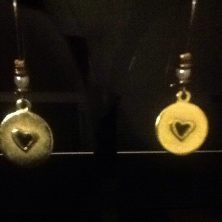 Other Heart And Pearl Drop Earrings