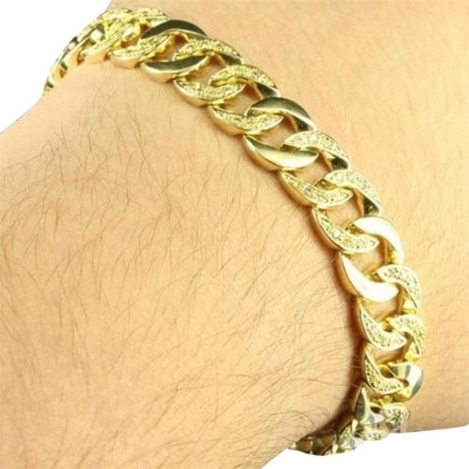 Male gold bracelet as an original decoration for a loved one 86