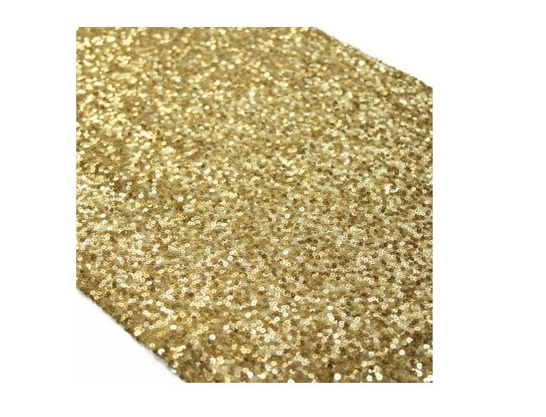 Gold Sequin Table Runner 13 By 108 Inch Elegant Table Decor Tablecloth