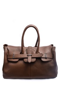 Golden Goose Deluxe Brand Leather Pebbled Tote in Brown
