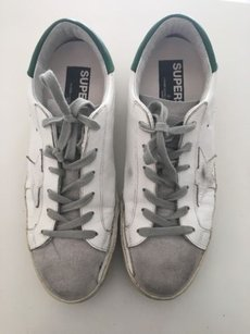 Golden Goose Deluxe Brand Superstar Sneakers Casual Chic White, Green Athletic