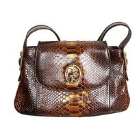 Gucci 1973 Python Tote in Brown