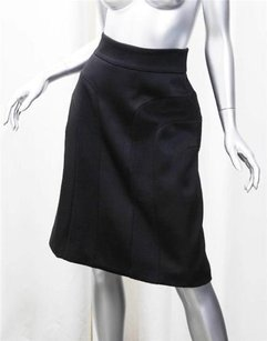 Gucci Woolangoracashmere Fitted Waist Skirt Black
