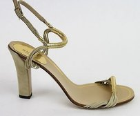 Gucci Anita Leather 309669 Gold Sandals