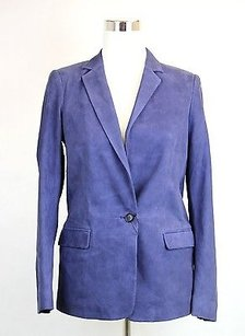 Gucci Womens Suede 340441 4579 Blue Jacket