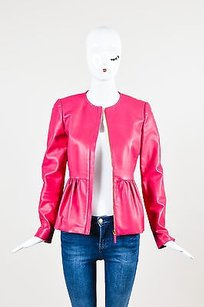 Gucci Hot Leather Ls Pink Jacket