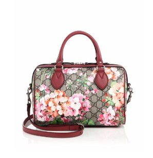 Gucci Blooms Canvas Small Satchel in Red