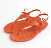 Gucci Katina Rubber Thong Winterlocking G 315934 7514 Bright Pumpkin Flats