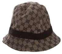 Gucci Brown, black Gucci GG Web Trimmed GG Logo Bucket Hat M