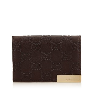 Gucci Brown Leather Others Slg 6ggucd001