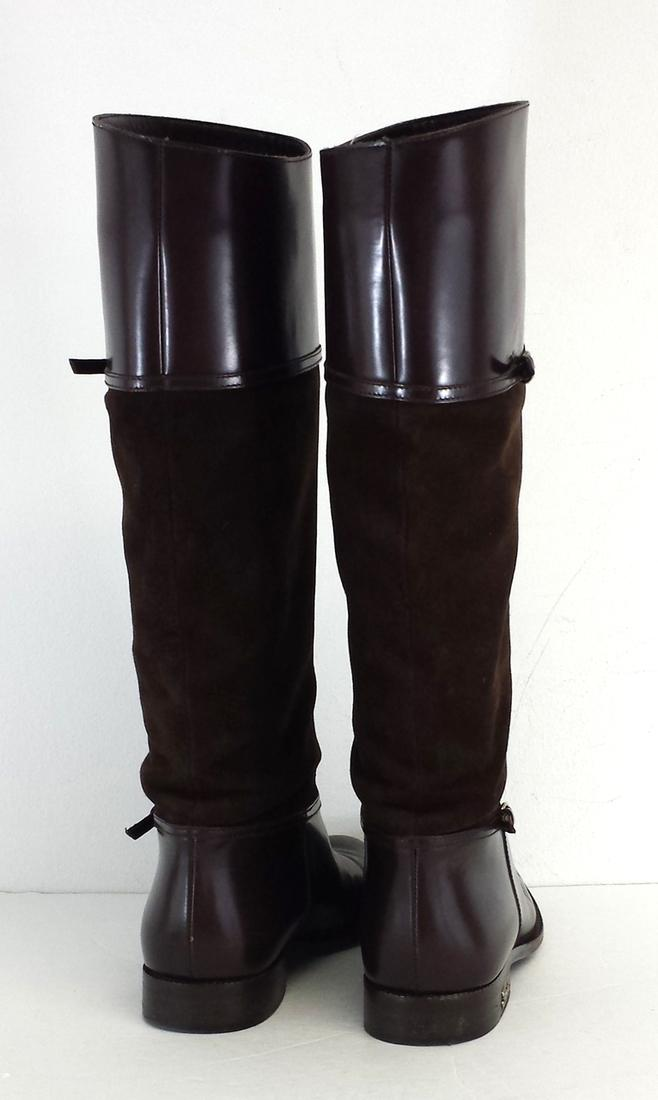 Gucci Brown Suede Riding Boots | Boots & Booties on Sale
