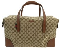 Gucci Canvas Carry-on Duffle 308925 brown Travel Bag