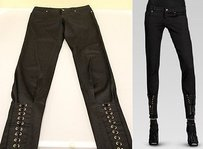 Gucci Womens Lace Up Skinny Pants