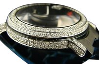 Gucci Custom Mens 6.0ct Diamond 101g Gucci Ya101331 Black Pvd Watch