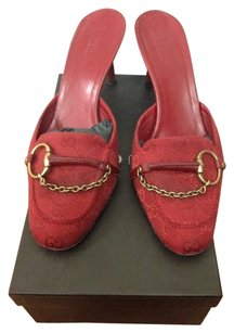 Gucci Dark Red Mules
