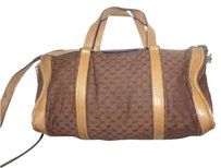 Gucci Doctor's Boston Small Logo Two-way Style Removable Strap Satchel in brown