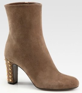 Gucci Jacquelyne Suede Ankle Gray Boots