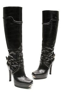 Gucci Leather Harness Black Boots