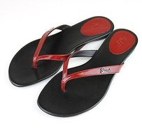Gucci Patent Leather Thong 253316 Red Sandals
