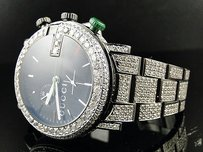 Gucci Fully Iced Out Mens Diamond Gucci Ya101331 Watch 17 Ct