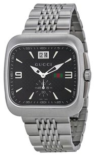 Gucci G Coupe Quartz Black Dial Stainless Steel Men's Watch