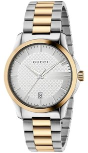 Gucci G-Timeless Silver Dial Two-Tone Unisex Watch