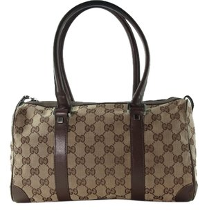 Gucci Gg Pattern Canvas Browns Travel Bag