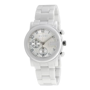 Gucci Gucci Chronograph White Dial Ceramic Mens Watch