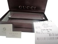 Gucci Gucci Dk Brown Dollar Calf Leather Continental Clutch Wallet T. Moro 231839