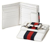Gucci Gucci French Leather Wallet Whorsebit And Brb Web White 245751