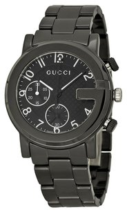 Gucci GUCCI G-Chrono Chronograph Black Dial Black Ceramic Men's Watch GCYA101352