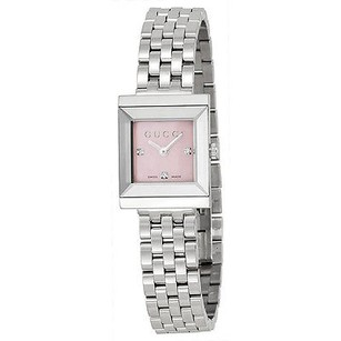 Gucci Gucci G Frame Timeless Mother Of Pearl Dial Stainless Steel Ladies Watch