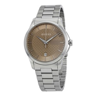 Gucci Gucci G-Timeless Brown Dial Stainless Steel Unisex Watch