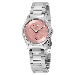 Gucci Gucci G-timeless Pink Dial Stainless Steel Ladies Watch
