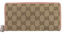Gucci GUCCI GG Guccissima Supreme canvas zip around wallet