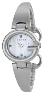 Gucci Gucci Guccissima Diamond Mother of Pearl Dial Stainless Steel Ladies Watch