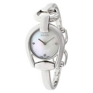 Gucci Gucci Horsebit Collection Mother Of Pearl Dial Stainless Steel Ladies Watch