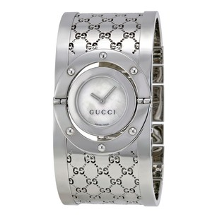 Gucci Gucci Ladies Bangle White Dial Watch
