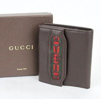 Gucci Gucci Leather French Wallet Wweb Interlocking G 295352 2061