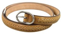 Gucci Gucci Leather Woven Belt 9538 Wmetal Buckle 259844