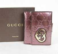 Gucci Gucci Lovely Guccissima Leather Heart French Wallet299924 6029
