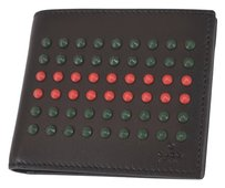 Gucci GUCCI Men's Leather Studded Bifold Wallet