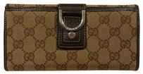 Gucci Gucci Signature Canvas and Leather Wallet